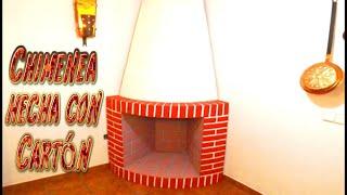 getlinkyoutube.com-Manualidad Decorativa, Chimenea hecha con Cartón - Santiago y sus ideas