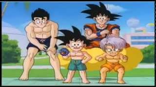 getlinkyoutube.com-Dragon Ball Z - Guerreros z en la piscina ( Comercial  Japones )