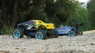 Exceed 1/16th Brushless Blaze Buggy and Magnet Truck