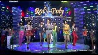 getlinkyoutube.com-HD 110630 T-ARA - ROLY POLY (Hot Comeback) Live Performance