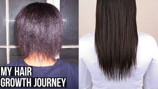 My Hair Growth Journey┃Relaxed Hair