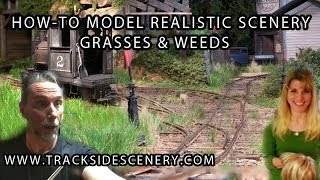 getlinkyoutube.com-How-to Make Realistic Model Railroad Scenery - Grasses and weeds!