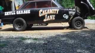 "getlinkyoutube.com-SKULL GARAGE..2015 THE GASSER ""CALAMITY JANE"" SHOCKS,DOWN BARS,AND LADDER BARS DONE"