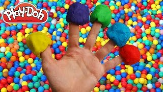 getlinkyoutube.com-Play Doh Finger Family Ball Pit Song for learning colors Nursery Rhymes for Children and Kids