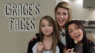 getlinkyoutube.com-Face Flop Challenge with jennxpenn & andrearussett -- Part 1 (TAG) | Grace's Faces // I love makeup.