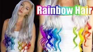 getlinkyoutube.com-RainBow Hair Dye Tutorial