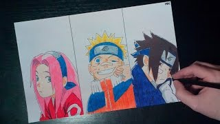 getlinkyoutube.com-SPEED DRAWING SAKURA, NARUTO, SASUKE FROM NARUTO SHIPPUDEN ENDING 40 (EPISODE 489)