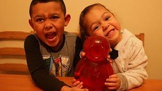 getlinkyoutube.com-70K SUBSCRIBER SPECIAL   Giant Jelly Baby Challenge *NEAR VOMIT WARNING*