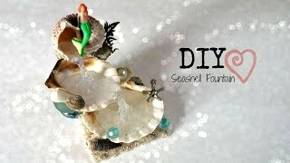 getlinkyoutube.com-DIY Seashell Fountain // Room Decor ♥