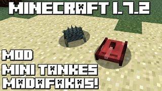 getlinkyoutube.com-Minecraft 1.7.2 MOD MINI TANQUES MADAFAKAS!