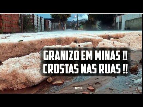 Clima do Fim dos Tempos: Ruas cobertas por crostas de gelo em Minas Gerais, em apenas 10 minutos!