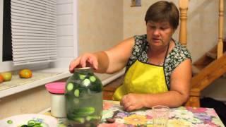 getlinkyoutube.com-Необычный способ засолки огурцов.Засолка огурцов. Рецепт соленых огурцов.