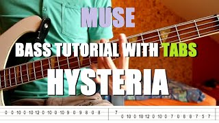 getlinkyoutube.com-Muse - Hysteria (Bass Tutorial with TABS)