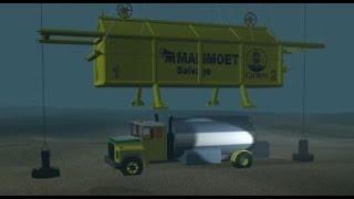 getlinkyoutube.com-Mammoet Salvage - Robson Bight fuel truck salvage