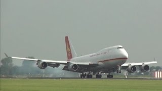 getlinkyoutube.com-Plane spotting at Schiphol Airport | Beautiful landings & take off's!
