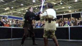 getlinkyoutube.com-Obiwan vs Anakin/Darth Vader mustafar fight