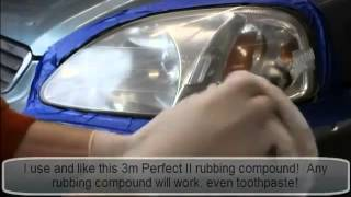إصفرار كشافات السيارة امر مزعج   طريقة سهله لتنظيف المصابيح الأمامية   MotoratyMotoraty