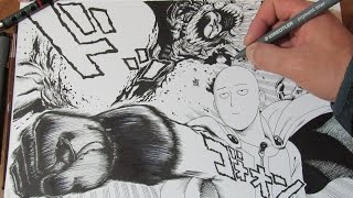 getlinkyoutube.com-CÓMO DIBUJAR A SAITAMA (ONE PUNCH MAN) Estilo Manga / TUTORIAL por @ShukeiArt