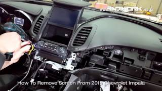 getlinkyoutube.com-HOW TO REMOVE My-Link Screen 2015 Chevrolet Impala by 인디웍 indiwork