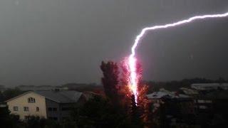getlinkyoutube.com-Crazy Close Lightning Strike Compilation 2016