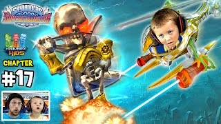 getlinkyoutube.com-Lets Play SKYLANDERS SUPERCHARGERS Chapter 17: Upside Downstairs Overtheres (Chase beats up Dad)