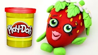 getlinkyoutube.com-SHOPKINS Stop Motion PLAY DOH video - - - Strawberry Kiss Claymation