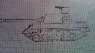 getlinkyoutube.com-Как нарисовать танк