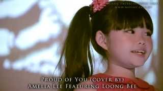 getlinkyoutube.com-Proud Of You (Cover) by 7-Year-Old Amelia Lee feat. Sand Artist Loong Bee
