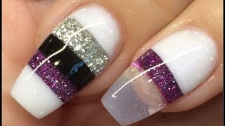 getlinkyoutube.com-Nails tutorial blocking technique acrylic design #notpolish