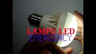 CARA MEMBUAT LAMPU LED 220 VOLT Jadi LAMPU  SENTUH DARURAT   SENTUH Menyala