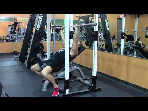 Barbell Incline Bench Press - HASfit Upper Chest Exercise Demonstration - Incline Press - Pectoral
