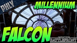 MILLENNIUM FALCON! Star Wars Battlefront Gameplay!