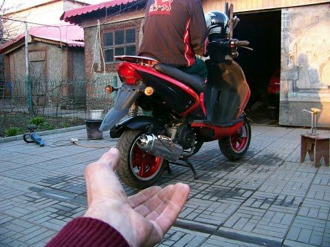 Скутер-как заменить заднее колесо,нюансы,де монтаж,монтаж.Scoo ter-how to replace the rear wheel