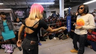 getlinkyoutube.com-BABS BUNNY & VAGUE presents QUEEN OF THE RING DON LADYII vs QB BLACK DIAMOND