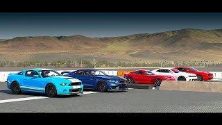getlinkyoutube.com-World's Greatest Drag Race! Shelby GT350R, GT500, Hellcat, Srt VIPER, Camaro Z/28 - Forza 6