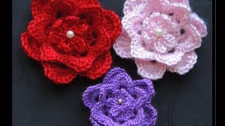 getlinkyoutube.com-Crochet : Flor # 5