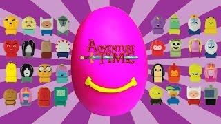getlinkyoutube.com-Happy Meal Adventure Time Giant Play Doh Surprise Egg McDonalds Kids Meal Toys