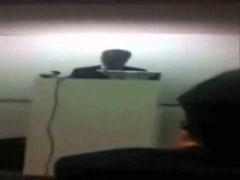 Protest During Porn Video Seller Speech In Oxford University, UK