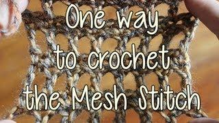 getlinkyoutube.com-One way to Crochet the Mesh Stitch