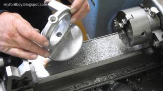getlinkyoutube.com-Machining a Casting, Mill and Lathe. Essex Turntable