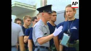 getlinkyoutube.com-USA:  WOMEN RECRUITS SPEND FIRST WEEK AT THE CITADEL MILITARY SCHOOL