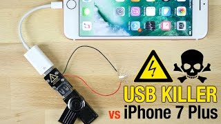 getlinkyoutube.com-USB Killer vs iPhone 7 Plus - Instant Death?