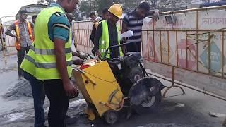 getlinkyoutube.com-Metro rail working in dhaka city - Biggest project