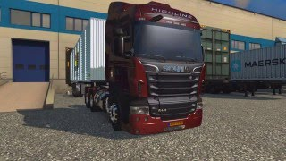 getlinkyoutube.com-Scania R + Bau + Volante Driving GT   Euro Truck simulator 2