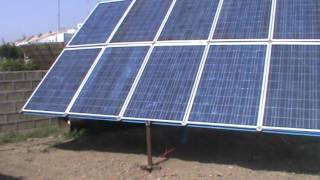 getlinkyoutube.com-10 KW solar power plant testing flour mill