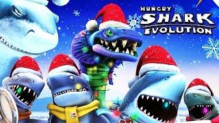 getlinkyoutube.com-Hungry Shark Evolution - Arctic Portal Christmas Land Is Back!!!