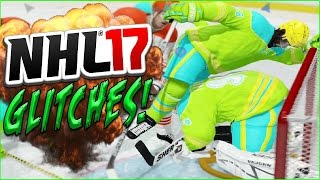 getlinkyoutube.com-NHL 17 Funny Glitches, Moments & Hits (GOALIE STUCK IN BOARDS) #5