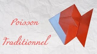 getlinkyoutube.com-Origami ! Poisson traditionnel - traditional fish [ HD ]
