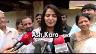 Bahubali 2 Anushka Shetty Visited Mangalore Temple & Speaking In Kannada