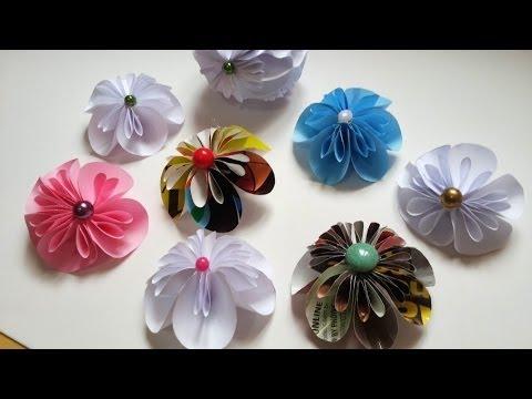 Kusudama flor de papel para decoração de diversos artesanatos passo a passo